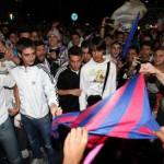 Celebración en la Redonda de la Liga del Real Madrid